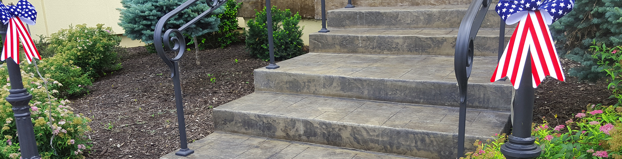 Create a Grand Entrance with Stamped Stairs